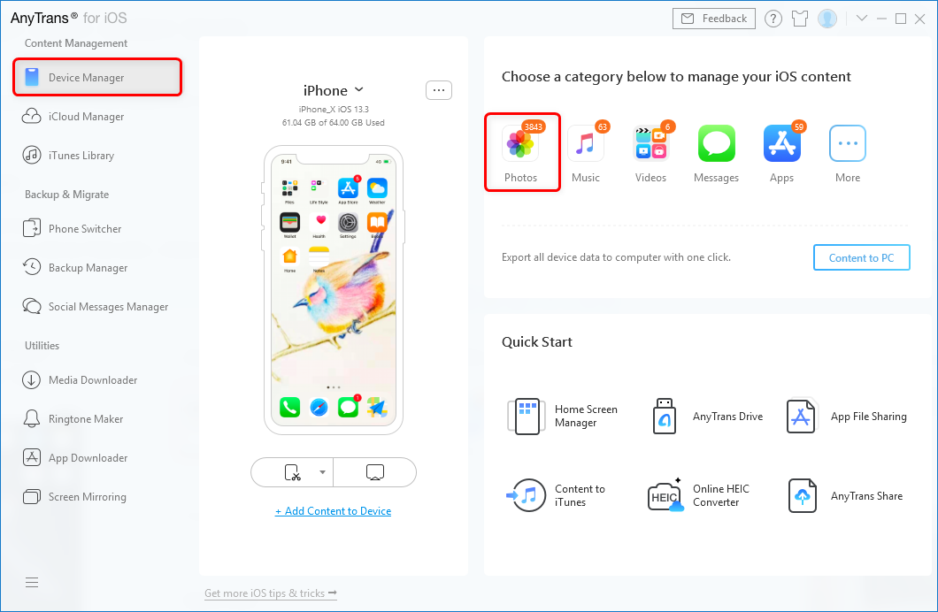 How to Download Pictures from iPhone to Surface – Step 1