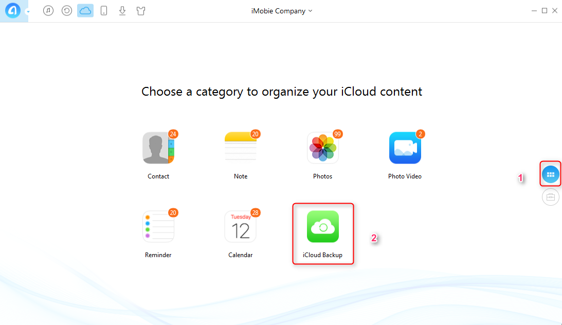 How to Download Videos from iCloud with AnyTrans – Step 2