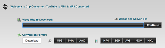 Download YouTube in MP4 and MP3 with ClipConverter