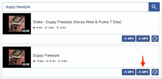 Free Download Drake Duppy Freestyle via Savetomp3