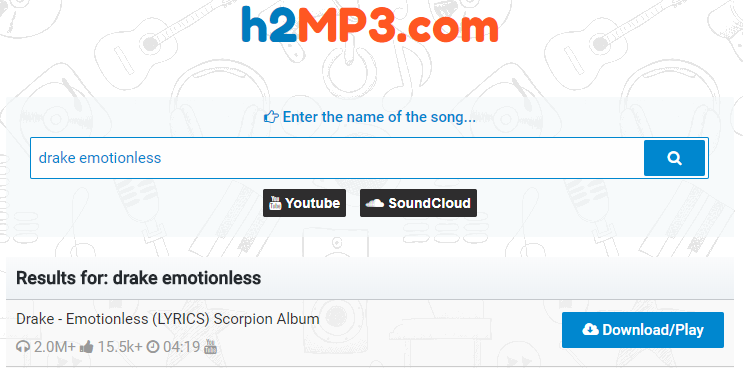 How to Free Download Drake Emotionless MP3 via h2MP3