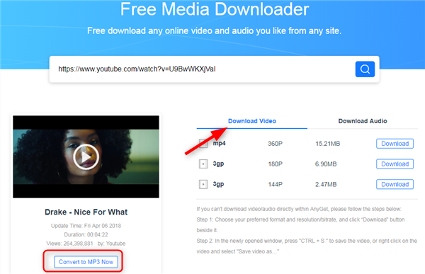 Free Download Drake Nice for What MP3 - AnyGet