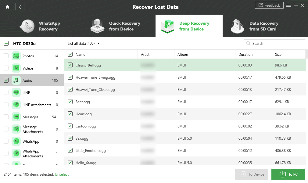 Recover Deleted Voice Recordings with DroidKitRecover Deleted Voice Recordings with DroidKit