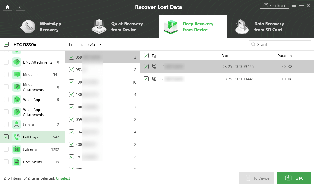 Recover Deleted Call Logs on Android Phone