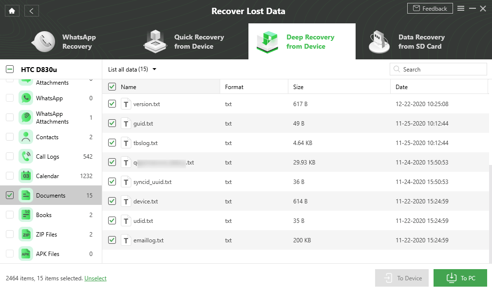 Recover Documents Android Phone