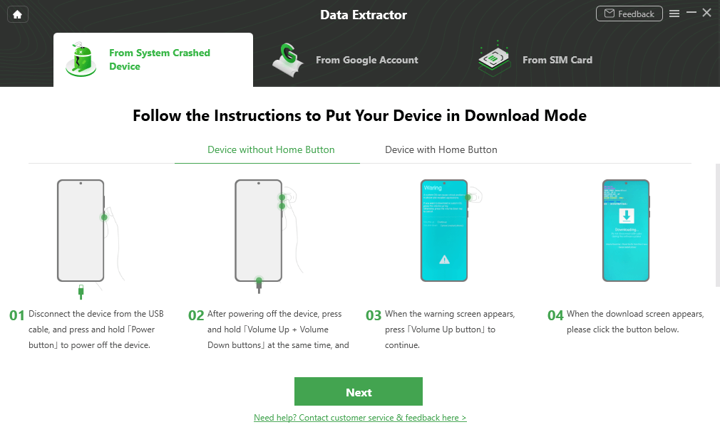 Put your Device in Download Mode