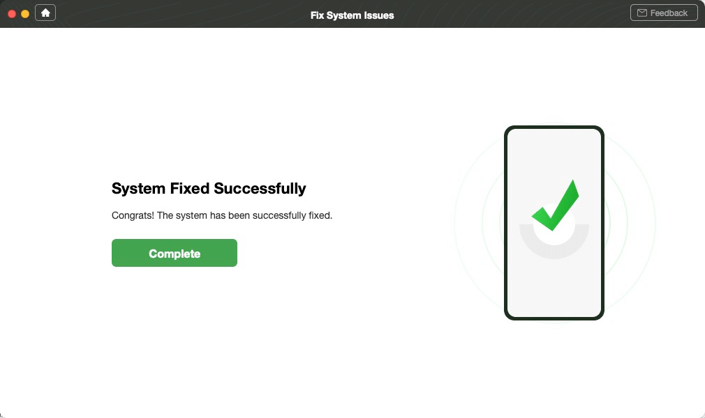 System Fixed Successfully