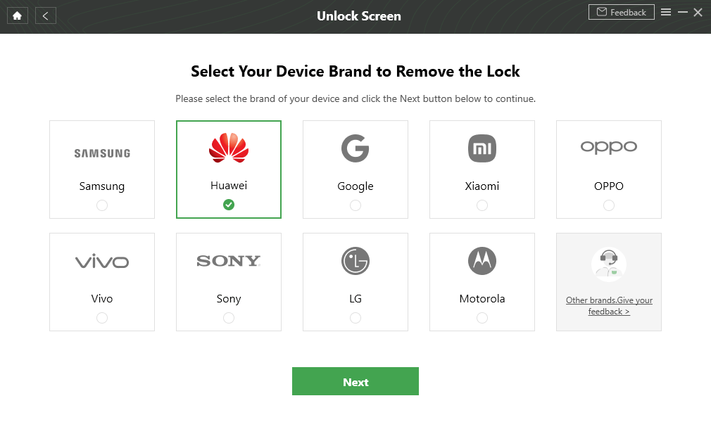 Select Huawei Brand