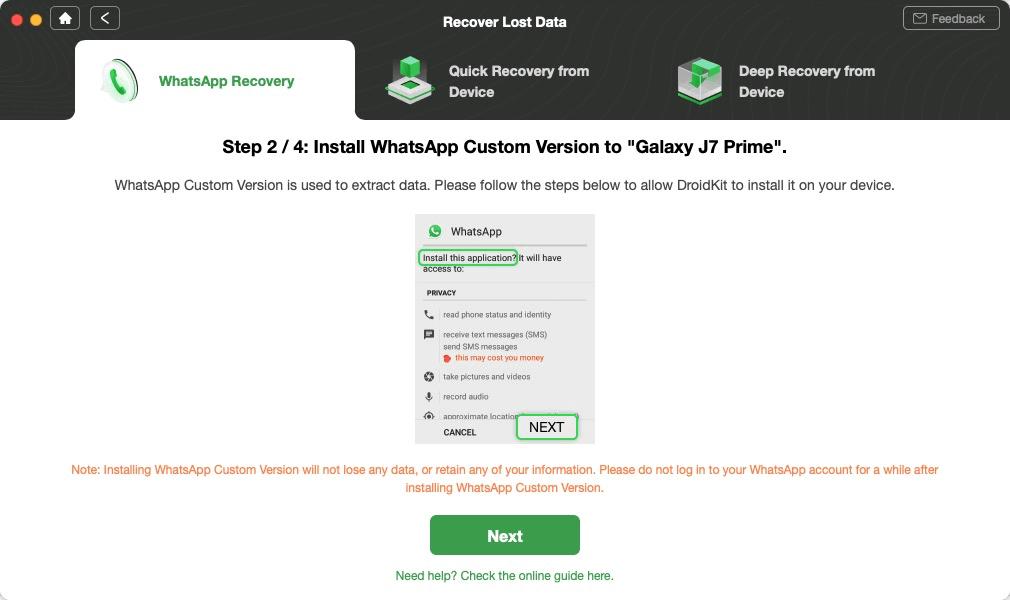 Install WhatsApp Custom Version