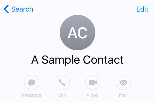 Edit a contact on your iPhone