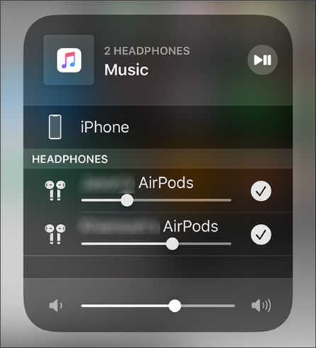 Enable audio routing for the second set of AirPods on the iPhone