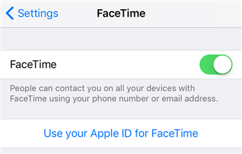 Enable FaceTime on the iPhone