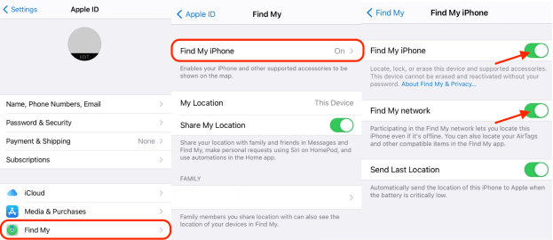 """Enable """"Find My Network"""" on iPhone"""