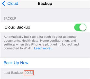 Check iCloud Backup