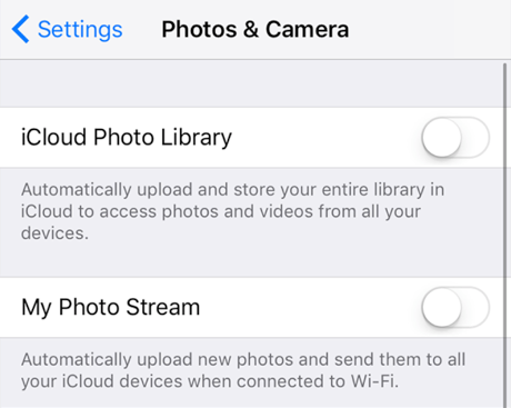 Enable iCloud Photo Upload on iPhone