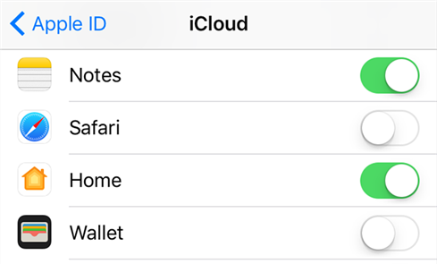 Enable Notes sync with iCloud