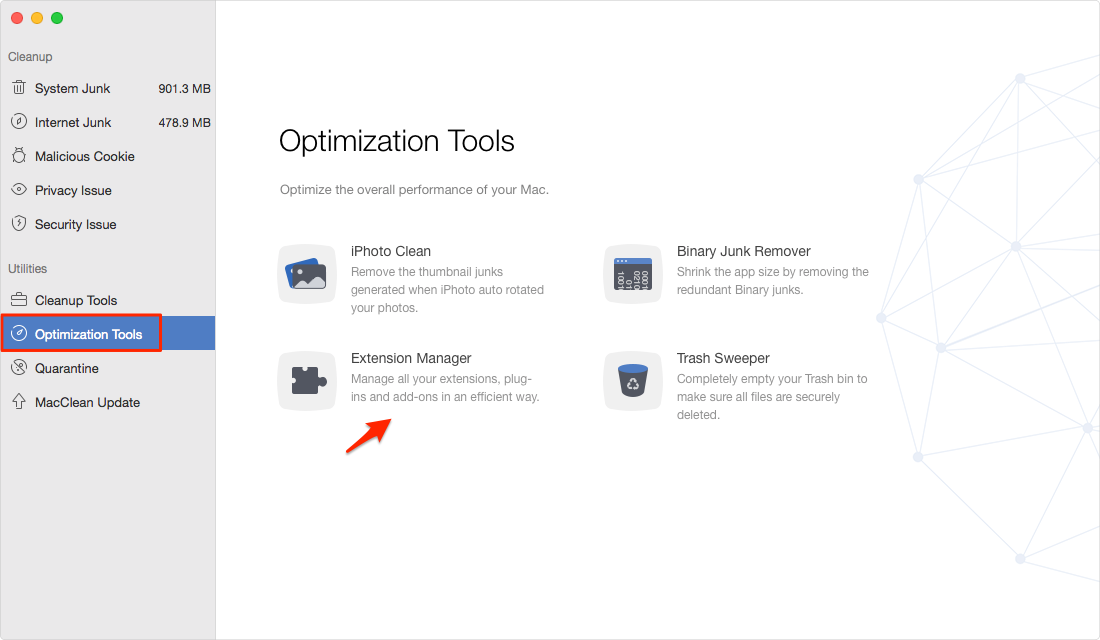 How to Turn on Plugins on Mac with MacClean – Step 1