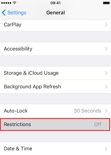 How to Enable Restrictions on iPhone - Step 3