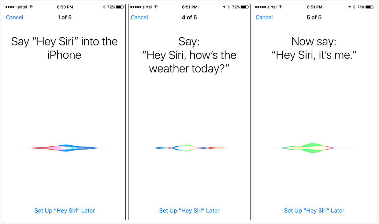 "Enable Voice ID for ""Hey Siri"" in iOS 9"