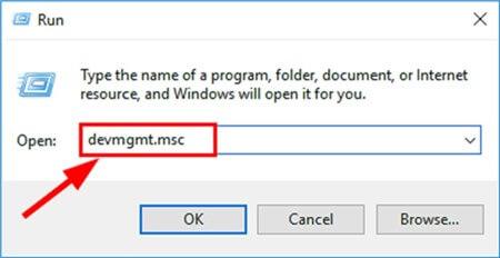 Enter devmgmt.msc in Empty Search Field
