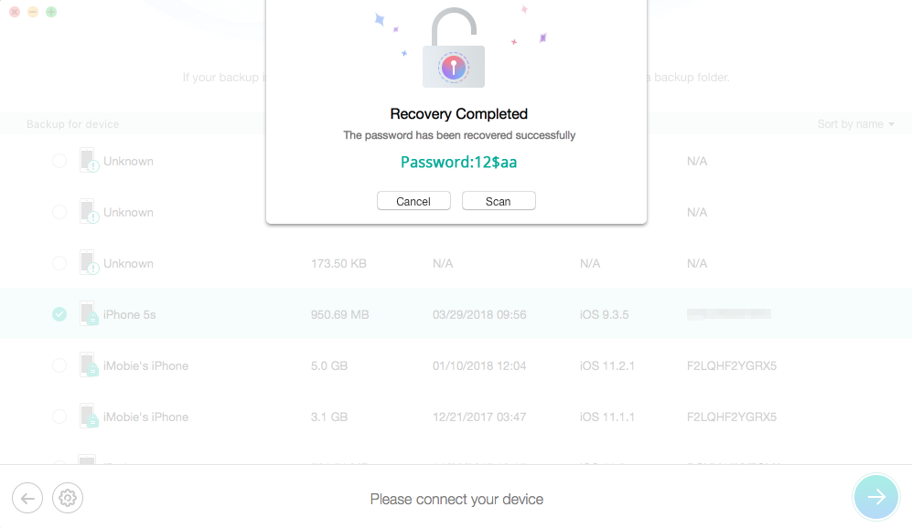 How to Recover iPhone Backup Password with a Free Way - Step 4