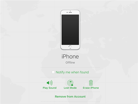 Erase and Remove iPhone From the Account