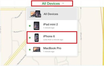 How to Erase iPhone from iCloud - Step 2
