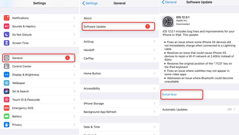 Fix 'error getting account info' via iOS update