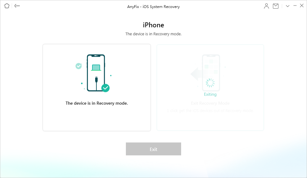 iPhone Is Exiting Recovery Mode via AnyFix