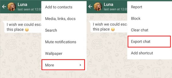 Export WhatsApp Chat on Android