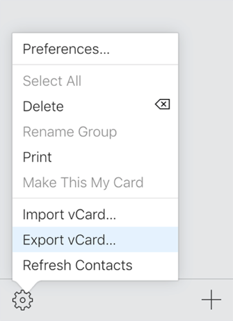 Export Contacts from the iCloud