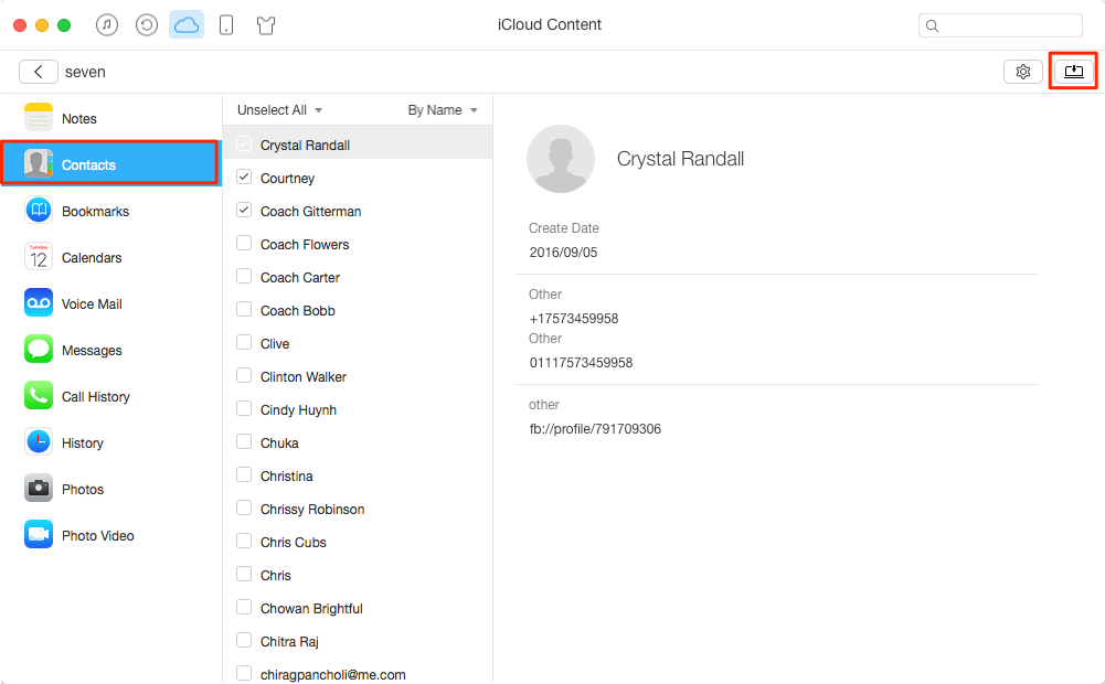 How to Export Contacts from iCloud with AnyTrans