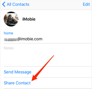 Export Contacts from iPhone