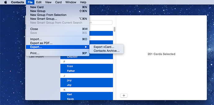 How to Export Contacts From Mac OS X Easily