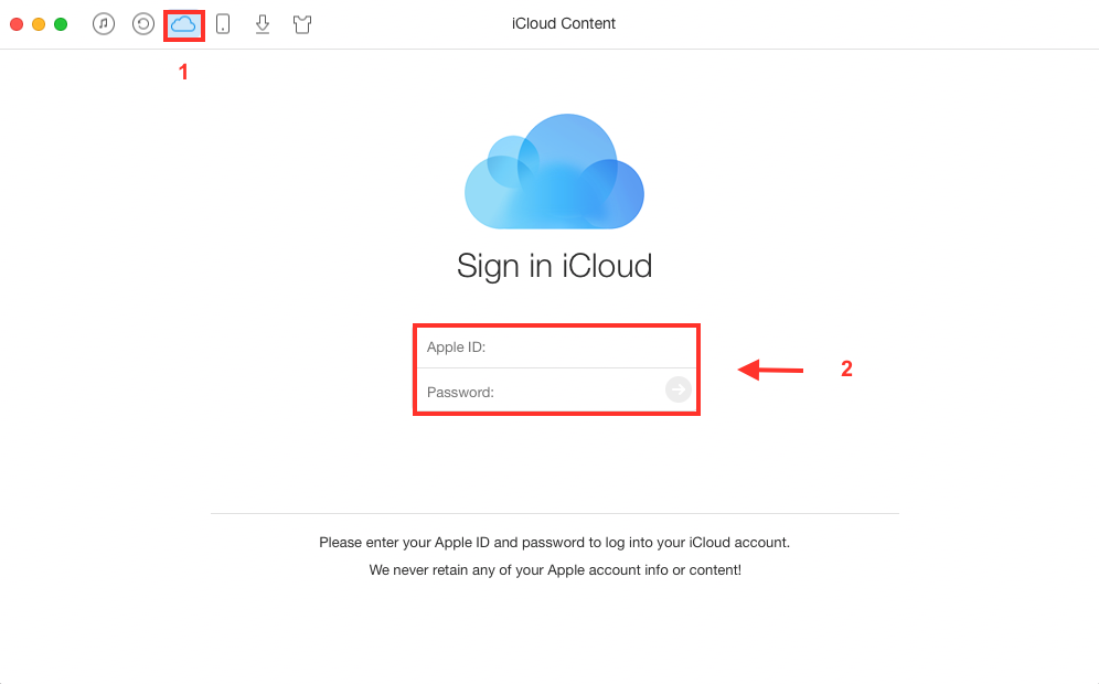 How to Export iCloud Contacts to CSV with AnyTrans - Step 1