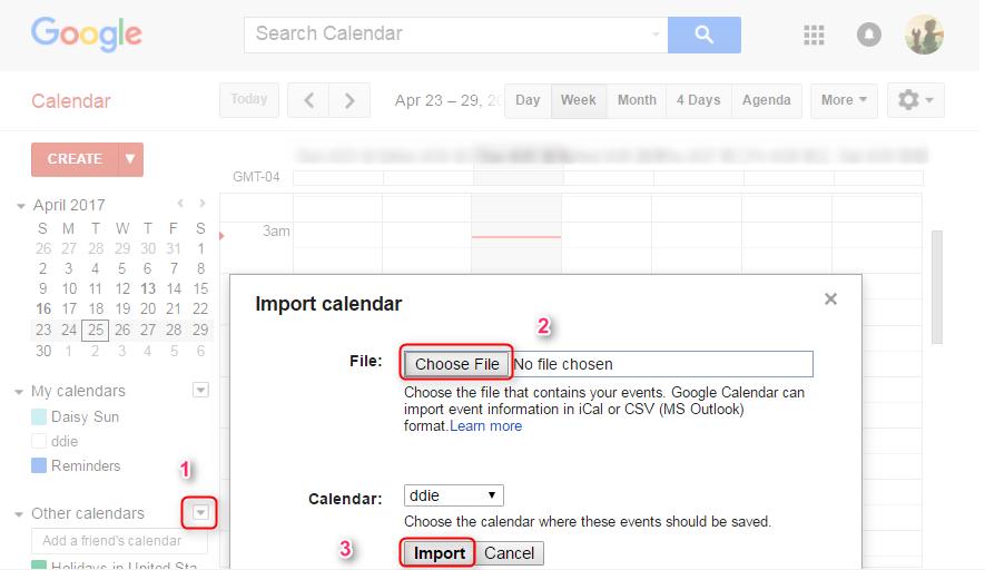 Share iCloud Calendar with Google via AnyTrans - Step 5