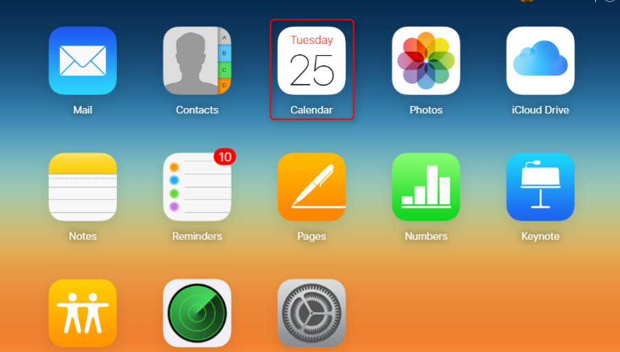 Share iCloud Calendar with Google by iCalendar File - Step 1