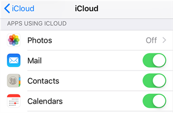 Enable iPhone contacts sync