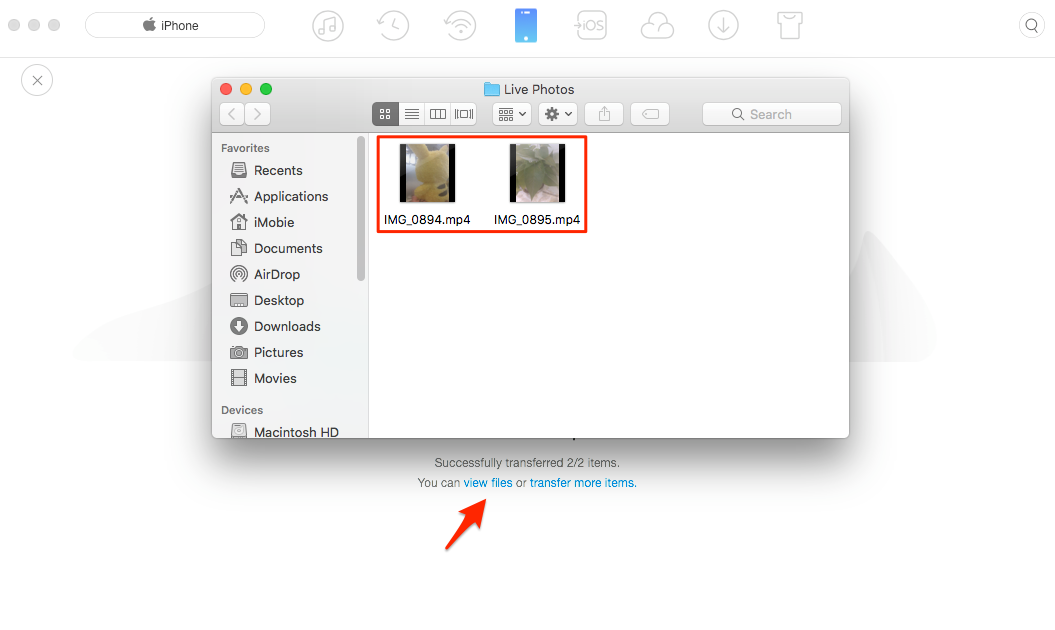 How to Convert Live Photo to MP4/M4V – Step 5