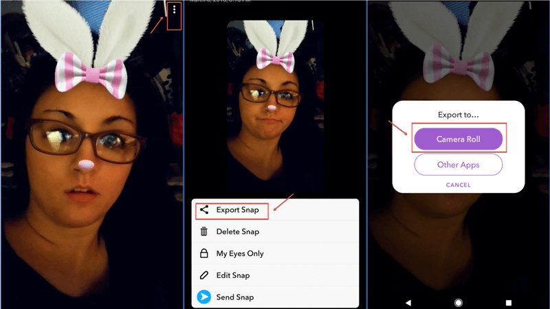Export Snapchat to Phone