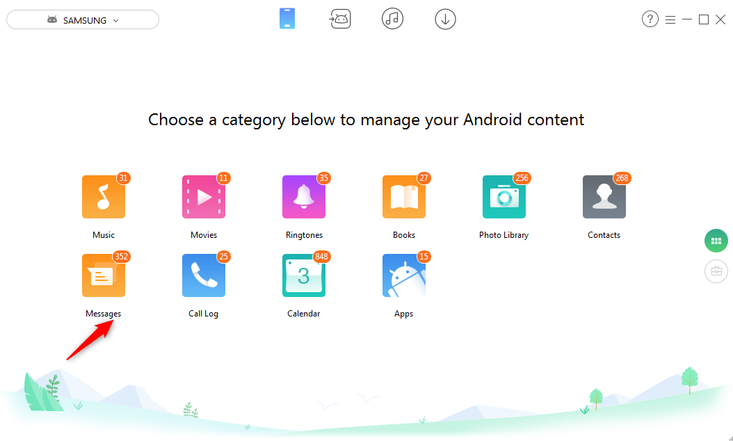 How to Save Android Messages to Another – Step 2