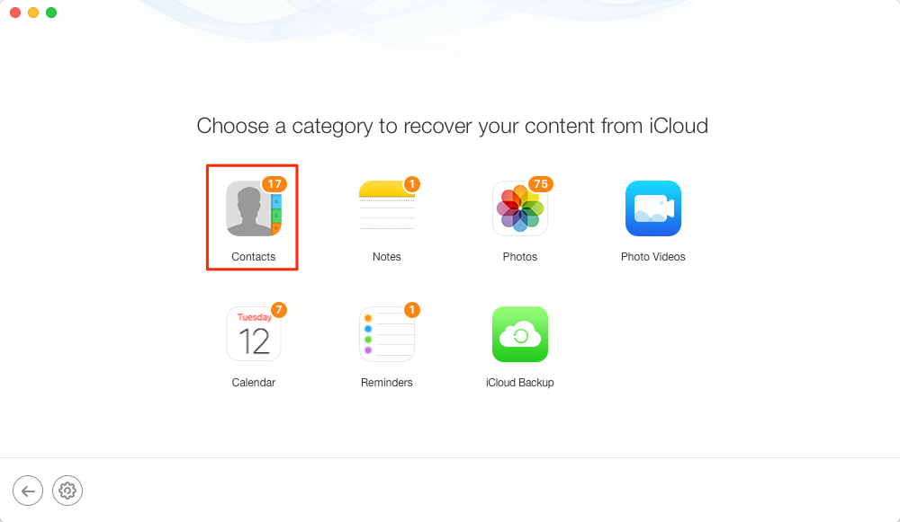 Alt: How to Extract Contacts from iCloud Backup – Step 2
