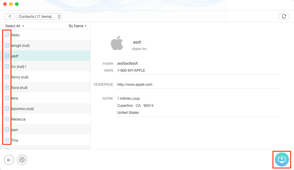 How to Extract Contacts from iCloud Backup – Step 3