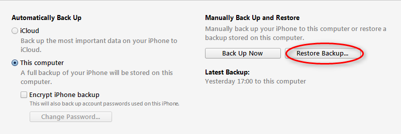 Extract Skype Messages from iTunes Backup - Step 3
