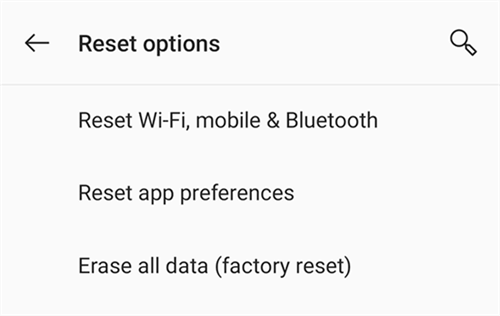Factory Reset Android to Exit Safe Mode