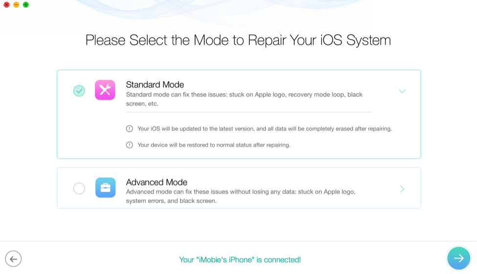 How to Factory Reset iPhone/iPad without iTunes via PhoneRescue – Step 2
