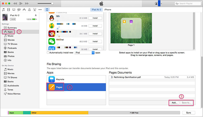 How to Use File Sharing on an iPad