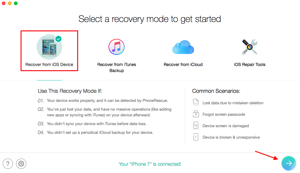 How to Find Deleted Pictures on iPhone – Step 2