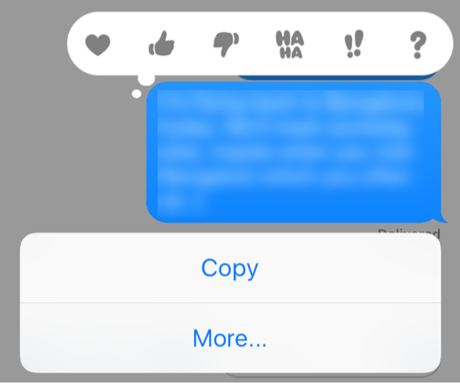 Find the Message Delete Option for iMessages