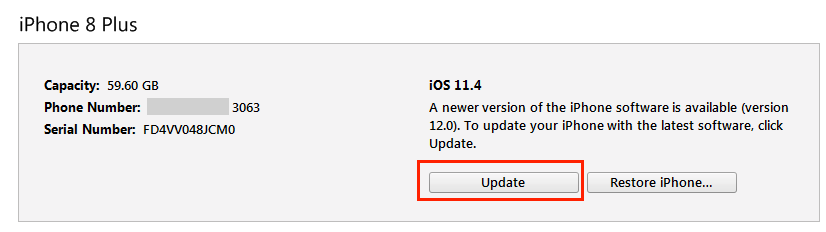 Fix An Error Occurred Installing iOS 12 via iTunes